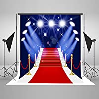 Kate 5x7feet Red Carpet Backdrop Backgrounds Stage Spotlight Photo Backdrops Cotton Cloth