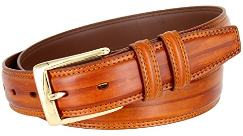 Line Design Genuine Leather Belt 1-1/4
