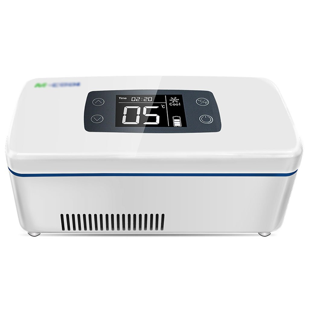Freezer Refrigerator and Insulin Refrigerator Portable car Refrigerator Medical Small Suitcase Suitable for Cars, Travel, Home Kitchen & Dining (Color : White, Size : 219.49.1cm/843.6inch)