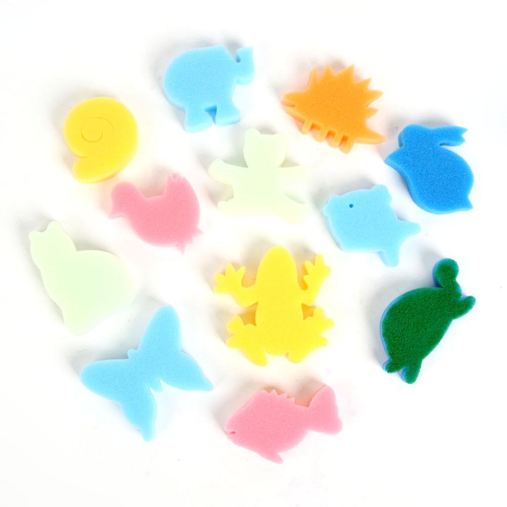 ULTNICE Spugna di spugna di arte della spugna di arte della spugna che spugna il bollo 24pcs colore casuale