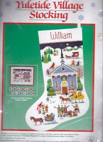 Yuletide Village Cross Stitch Stocking Kit 8402 ()