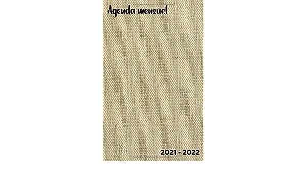 Calendrier Mensuel 2021 2022 Agenda mensuel 2021   2022: 24 mois | Petit Format 12, 7 cm x 20