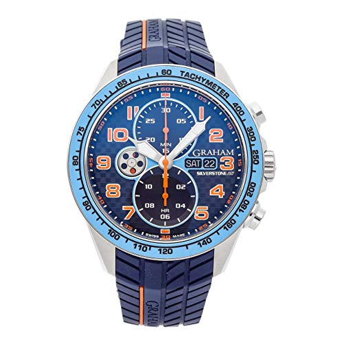 Graham Silverstone Mechanical (Automatic) Blue Dial Mens Watch 2STEA.U05A (Certified Pre-Owned)