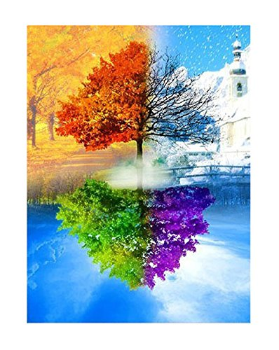Tsing Diy Crystals Paint Kit 5d Diamond Painting By Number Kitsfour Season Trees 16w19l Arts Entertainment Hobbies Creative Arts Crafts Hobbies Drawing