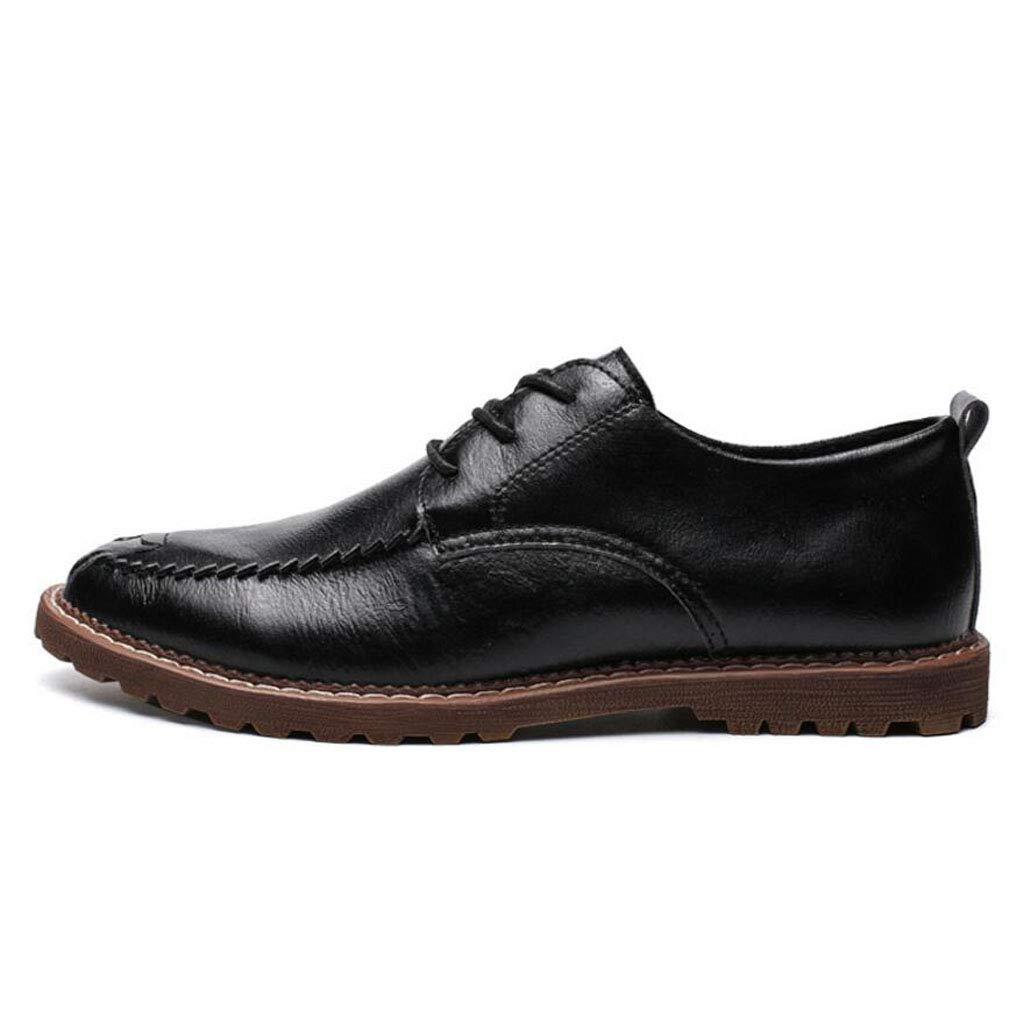 Zxcvb Martin Stiefel Herren Retro Martin Stiefel Niedrig zu Helfen, Klassische Leder Herrenschuhe große Größe Geschäft Schuhe