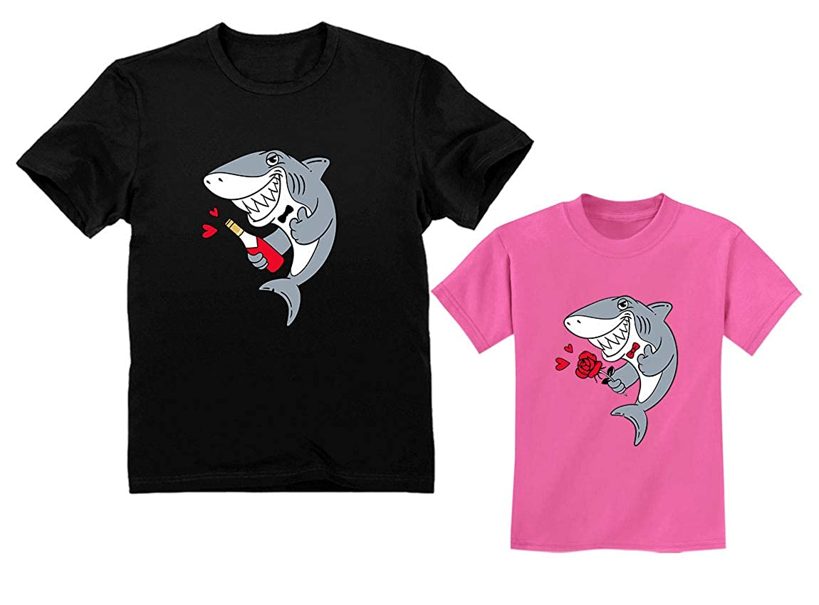73507dab2ee29 Amazon.com: Father and Son Matching Outfit for Valentine's - Daddy Shark  Baby Shark Doo Doo: Clothing
