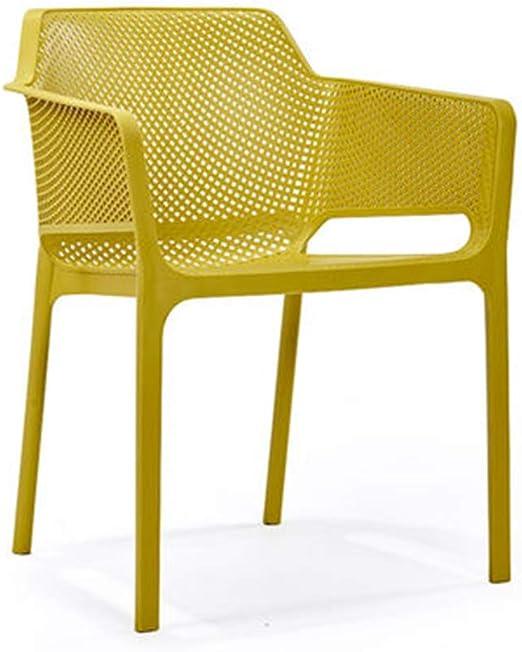 Amazon.com - LJLJX Plastic Chair, Dining Creative Stackable ...