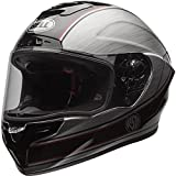 Bell Race Star Unisex-Adult Full Face Street Helmet (Rsd Chief Silver, Medium) (D.O.T.-Certified)