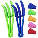 Window Blind Cleaner Tools: 2Pack Cleaner Duster Brush with 5 Microfiber Sleeves for Window Shutters Blind Air Conditioner Gr
