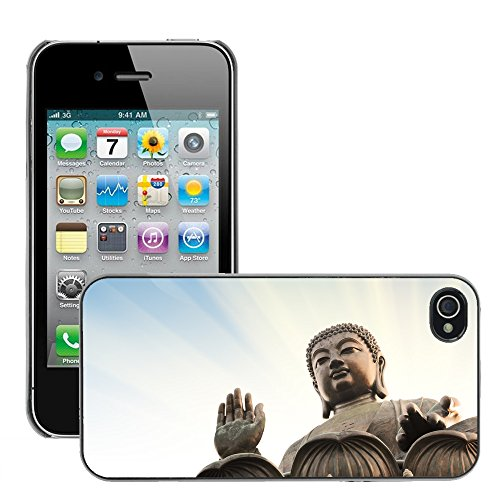 Premio Sottile Slim Cassa Custodia Case Cover Shell // V00001644 Bouddha // Apple iPhone 4 4S 4G