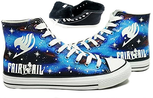 Fairy Tail Anime Logo Cosplay Schuhe Leinwand Schuhe handgemalte Schuhe Turnschuhe Leuchtend
