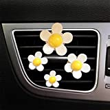 YGMONER Daisy Flower Clip Car Air Vent Air-Conditioner Fragrance Diffuser (Yellow)