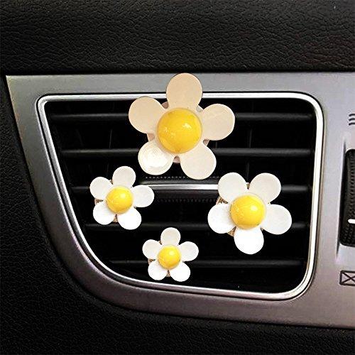 Freshener Air Daisy - YGMONER Daisy Flower Clip Car Air Vent Air-conditioner Fragrance Diffuser (Yellow)
