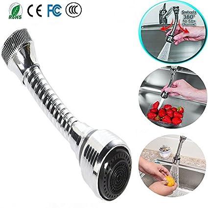 Sallypan Turbo Flex 360 giratorio Rociador de grifo de fregadero de manos libres Ampliar Manguera flexible