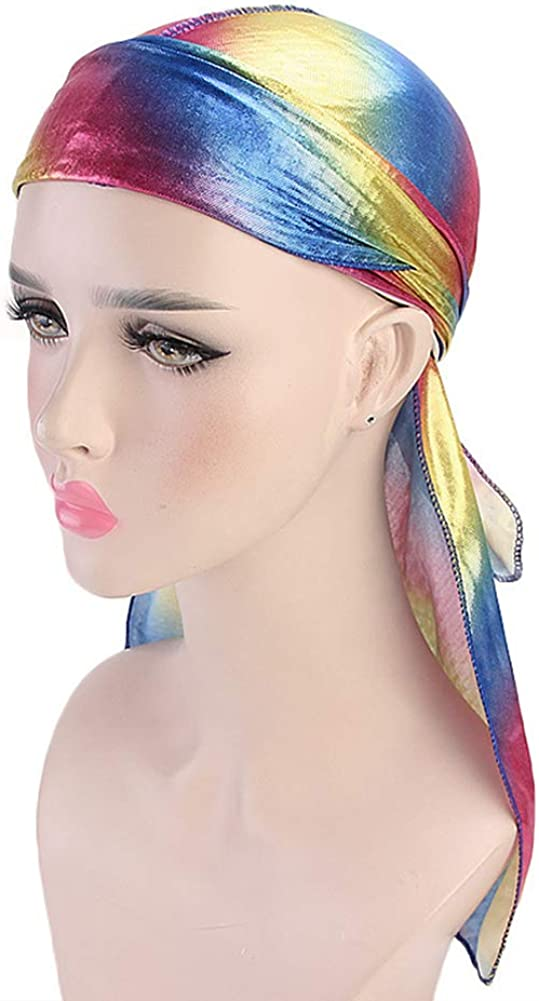 Silky Durag with Extra Long Tail Wide Straps Headwrap Premium Soft for Men Women