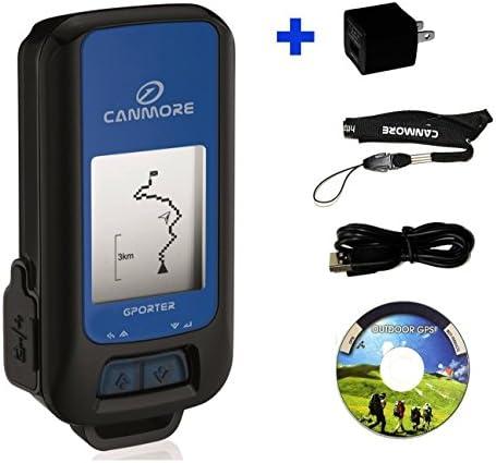 GPORTER GP-102 Blue Multifunction GPS Device Sport Tracker – USB Charger US Bundle