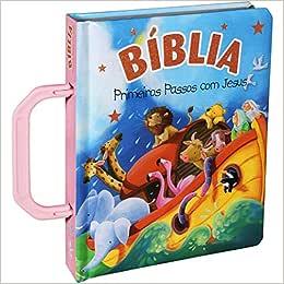 Bíblia Primeiros Passos com Jesus Rosa
