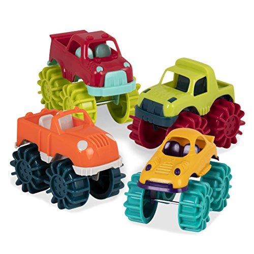 51Q2KZXJ8lL - Battat Mini Monster Trucks (Set of 6 Different Toy Vehicles)