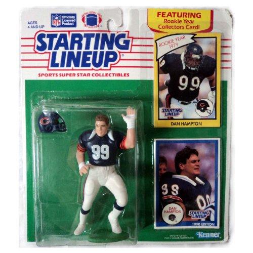 1990 Starting Lineup BEARS NFL DAN HAMPTON Featuring 1979 Rookie Year Card