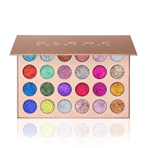 Pressed Glitter Eyeshadow Palette  - Highly Pigmented, Shimm