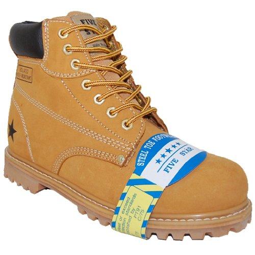 Chaussures De Sécurité En Acier De Sécurité Des Orteils En Acier Supérieure 6 Pouces De Travail Boot, Hommes
