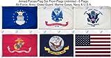 Armed Forces -6 Flag Set 2 ft. x 3 ft.