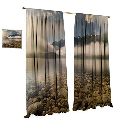 cobeDecor Nature Thermal Insulating Blackout Curtain Alpine Lake