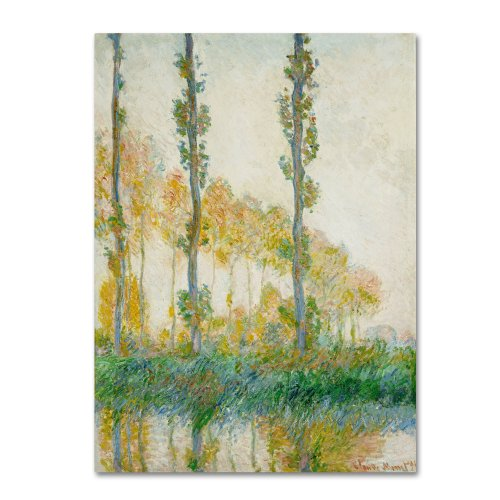 The Three Trees Autumn by Claude Monet work, 35 by 47-Inch Canvas Wall Art