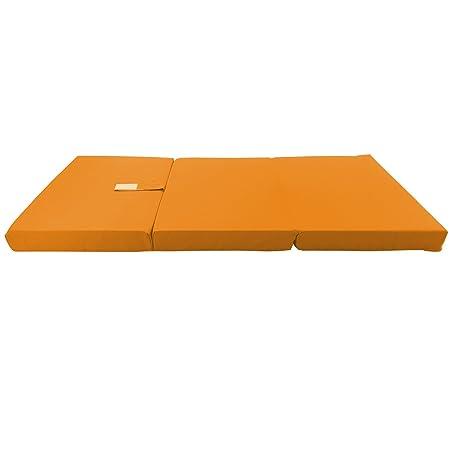 Colchón plegable para niños de proheim 120 x 60 x 6 cm - colchón de viaje para niños transportable , Color:Naranja: Amazon.es: Hogar