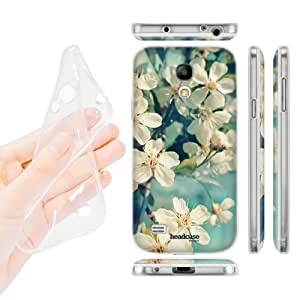 Head Case Designs White Spring Cherry Blossoms Flowers Soft Gel Back Case Cover for Samsung Galaxy S4 mini I9190 Duos I9192 by icecream design