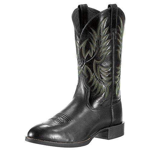 ARIAT 10009594 Men's Heritage Stockman 11IN Western Boots - Black - 10.0 - EE