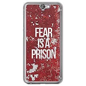 Loud Universe HTC One A9 Fear Is A Prison Printed Transparent Edge Case, Red