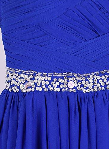 Asvogue Sans Manches Chérie Robe Longue En Mousseline De Soie Bal Bleu Royal Des Femmes