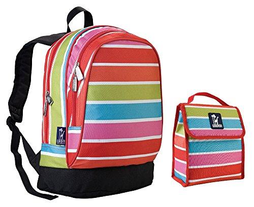wildkin-bright-stripes-sidekick-backpack-back-pack-and-lunch-bag-school-bundle-set