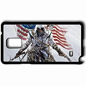 Personalized Samsung Note 4 Cell phone Case/Cover Skin Assassin Connor Gun Flag America Black