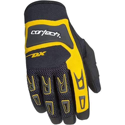 Cortech DX 3 Mens Street Motorcycle Gloves - Black/Yellow/10 Large (Cortech Motorcycle Gloves)