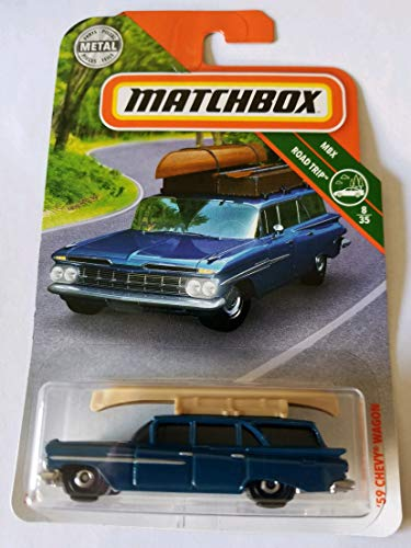 Matchbox 2018 MBX Road Trip 8/35 - '59 Chevy Wagon (Blue)