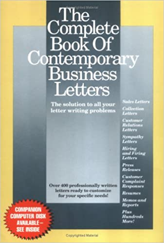 The Complete Book Of Contemporary Business Letters Stephen P