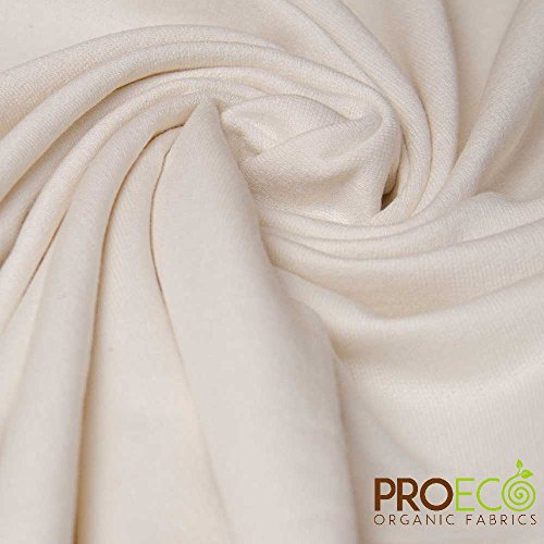 ProECO Bamboo French Terry Fabric (Made in USA, Natural, Sold by The Yard)