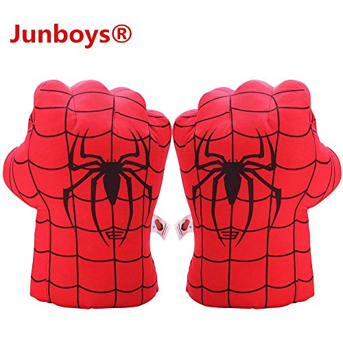 Junboys Plush Kids Superhero Spiderman Boxing Gloves