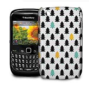 Phone Case For BlackBerry Curve 8520/9300 - Pine Trees Geometric Pastel Glossy Wrap-Around