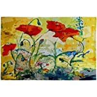 Deny Designs Ginette Fine Art Poppies Provence Woven Rug, 2 x 3