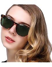 KANASTAL Lentes de Sol Mujer Polarizados Clásicos Vintage Retro Anteojos con Protección UV400 de Moda Dama Señora