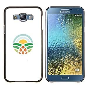 EJOOY---Cubierta de la caja de protección para la piel dura ** Samsung Galaxy E7 E700 ** --símbolo de aprendizaje