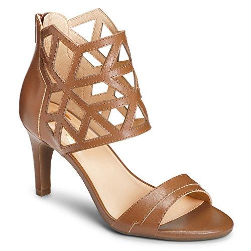 Aerosoles Women's Salamander Dress Sandal, Dark Tan Leather, 9 M US (Dark Brown Women Dress Shoes)