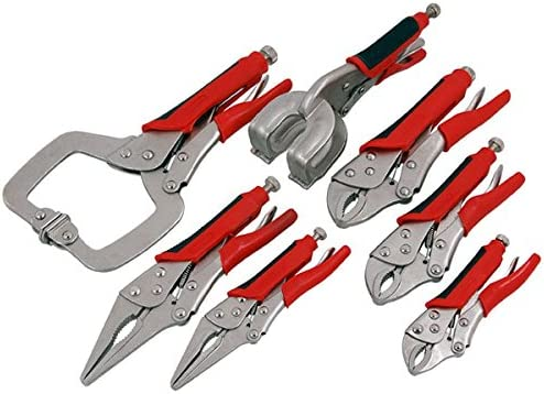 Wrench Self Locking Soft-Grip Plier Set 3pce Like Vise Clamps Spanners