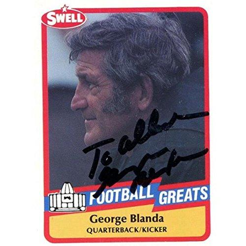 George Blanda Autographed Football - 1