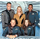 #9: Babylon 5 Cast Sitting and Standing Together Group Shot 8 x 10 Inch Photo