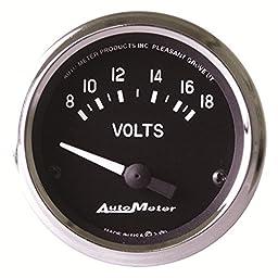 Auto Meter 201009 Cobra Electric Voltmeter Gauge