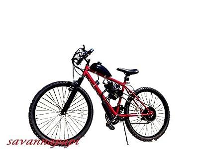 Savannamama 2-STROKE 66cc/80cc DIY MOTORIZED BIKE KIT WITH 21 SPEED MOUNTAIN BIKE